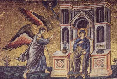 The Annunciation - Santa Maria in Trastevere, XIII century